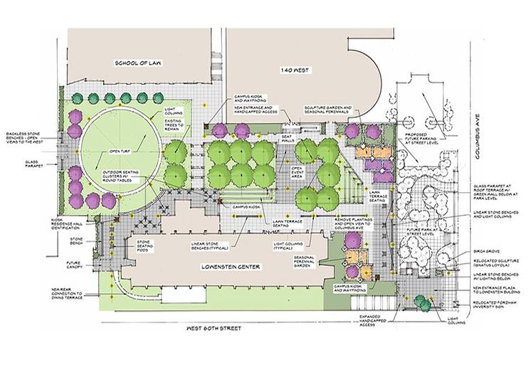 Campus Map Fordham.Fordham Lincoln Center Park 62nd St Plaza Roof Deck New York Ny